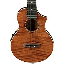 Ibanez UEW15E Flame Mahogany Concert Acoustic-Electric  Ukulele Level 1 Natural