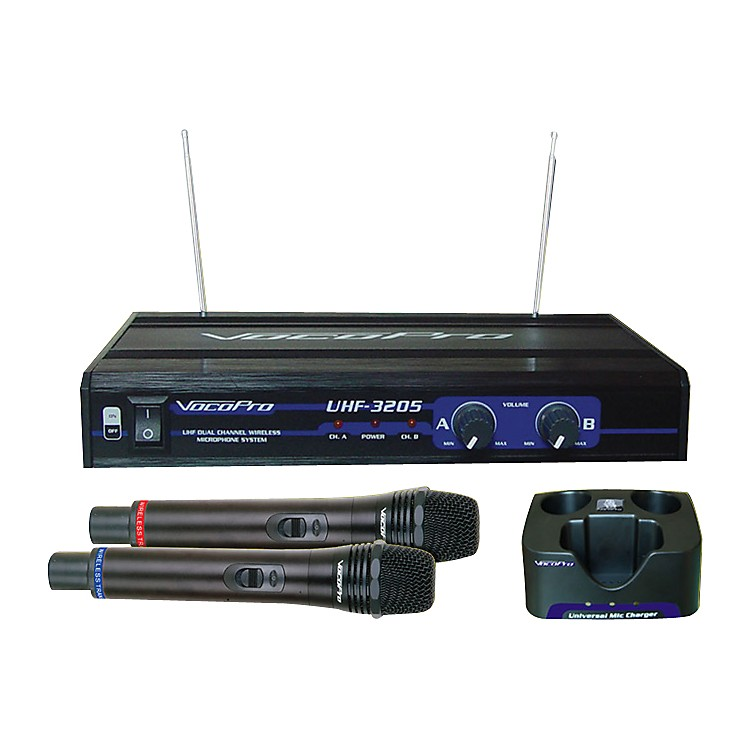 VocoPro UHF-3205 Dual Rechargeable Wireless Mic System