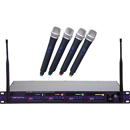 VocoPro UHF-5800 4-Microphone Wireless System Band 4