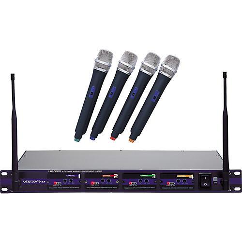 VocoPro UHF-5800 4-Microphone Wireless System