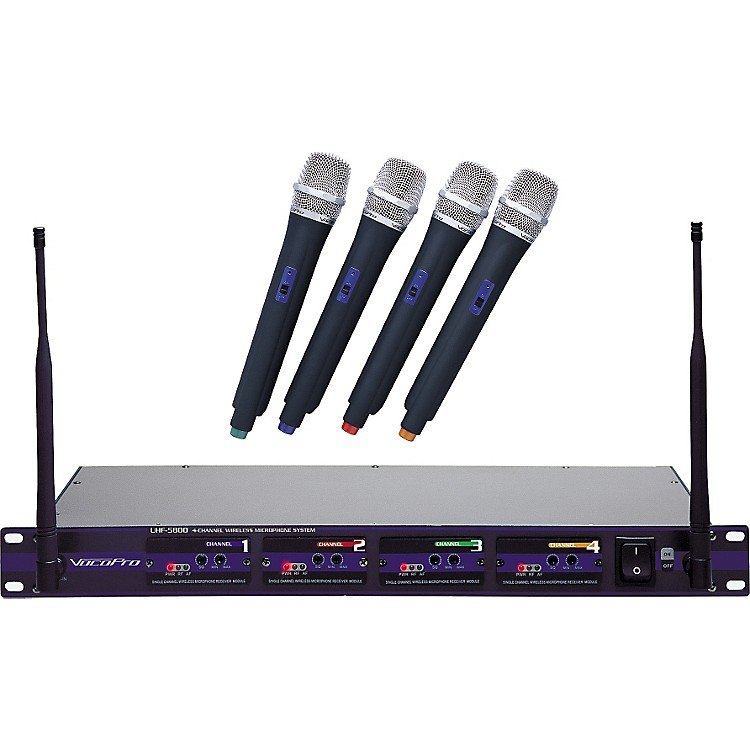 VocoPro UHF-5800 4-Microphone Wireless System CH 4