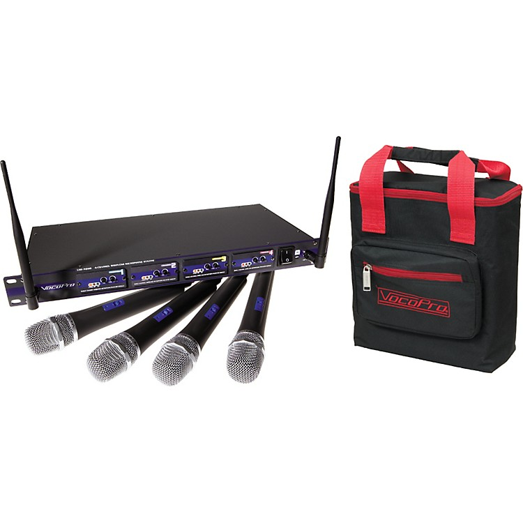 VocoPro UHF-5800 Plus 4-Mic Wireless System with Mic Bag CH 3