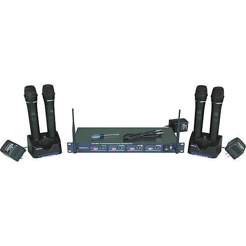 VocoPro UHF-5805 Plus Rechargeable Wireless System with Mic Bag Band 3