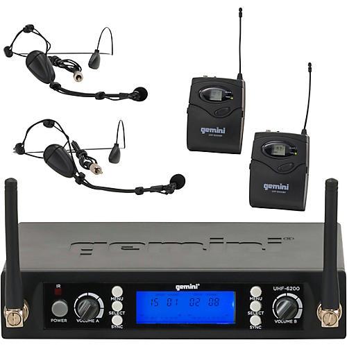Gemini UHF-6200HL Dual Lavalier Wireless Headset System-thumbnail