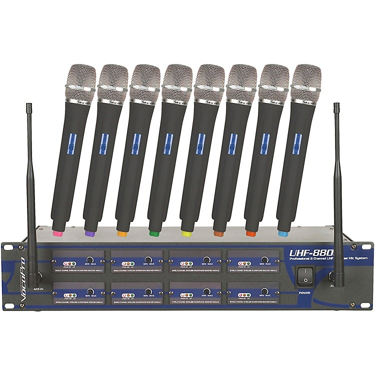 VocoPro UHF-8800 Plus 8-Channel Wireless System with Mic Bag