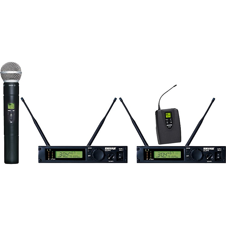 Shure ULXP124/58 Dual Channel Mixed Wireless System J1