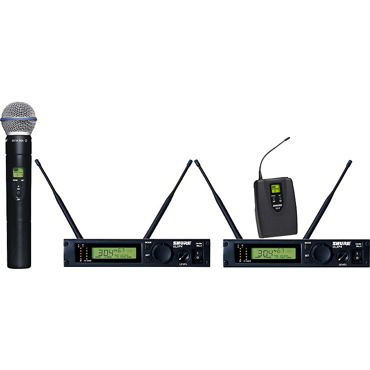 ShureULXP124/BETA58A Dual Channel Mixed Wireless System
