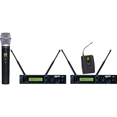 Shure ULXP124/BETA87A Dual Channel Mixed Wireless System-thumbnail