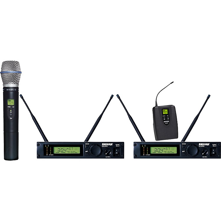 Shure ULXP124/BETA87C Dual Channel Mixed Wireless System J1