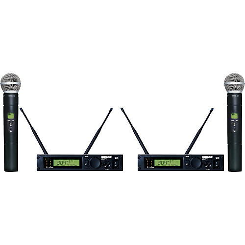 Shure ULXP24D/58 Dual Handheld Wireless Microphone System