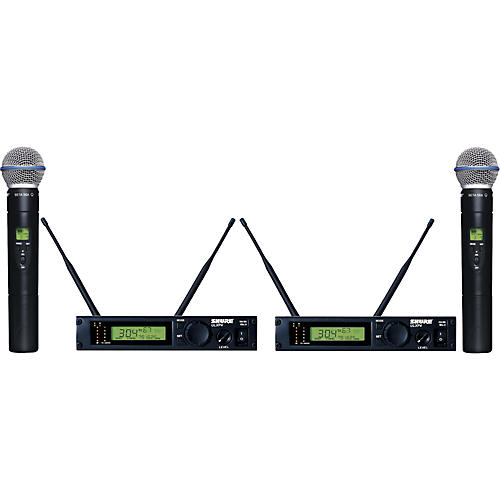 Shure ULXP24D/BETA58 Dual Handheld Wireless Microphone System