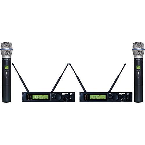 Shure ULXP24D/BETA87C Dual Handheld Wireless Microphone System