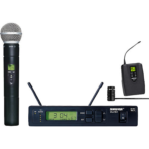 Shure ULXS124/85 Wireless Handheld/Lavalier Combo System-thumbnail