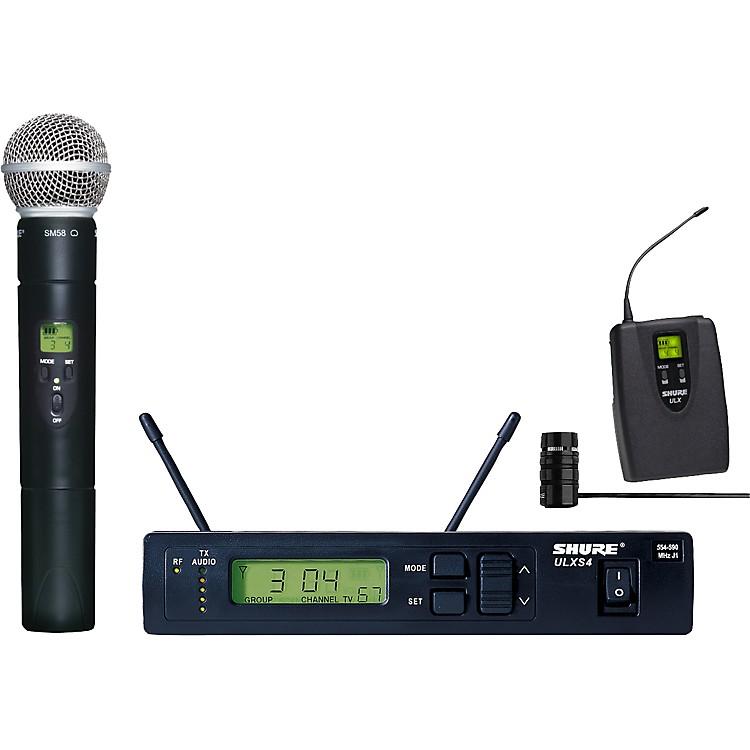 ShureULXS124/85 Wireless Handheld/Lavalier Combo System