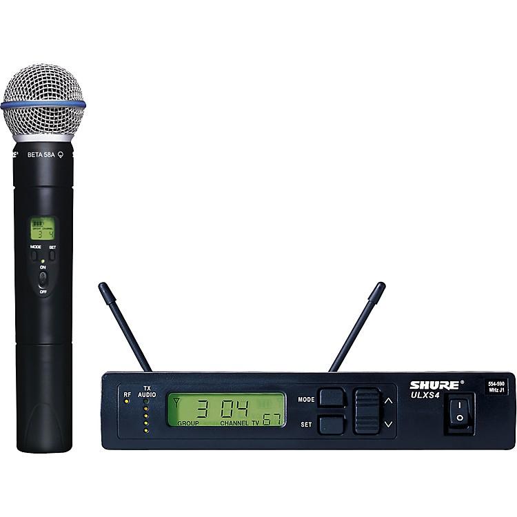 ShureULXS24/BETA58 Handheld Wireless Microphone SystemJ1