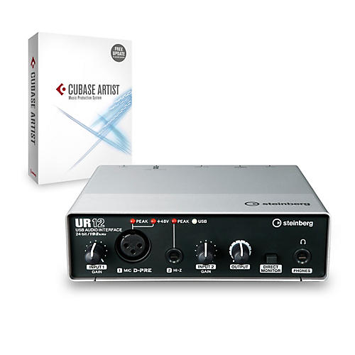 Steinberg UR12 2x2 USB 2.0 Audio Interface With Cubase Artist-thumbnail