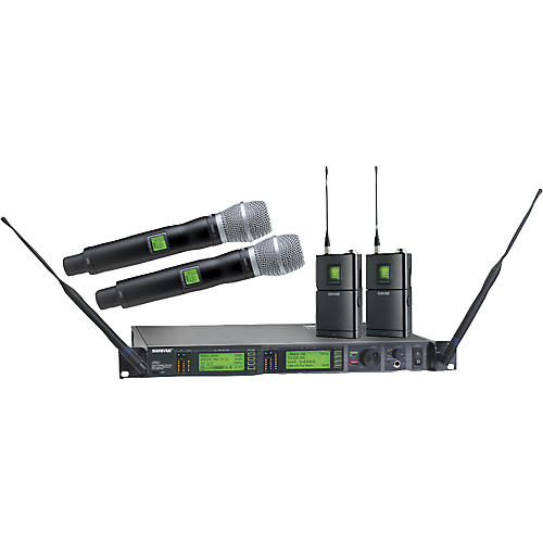 Shure UR124D/SM86 Dual Bodypack and Handheld Wireless Microphone System