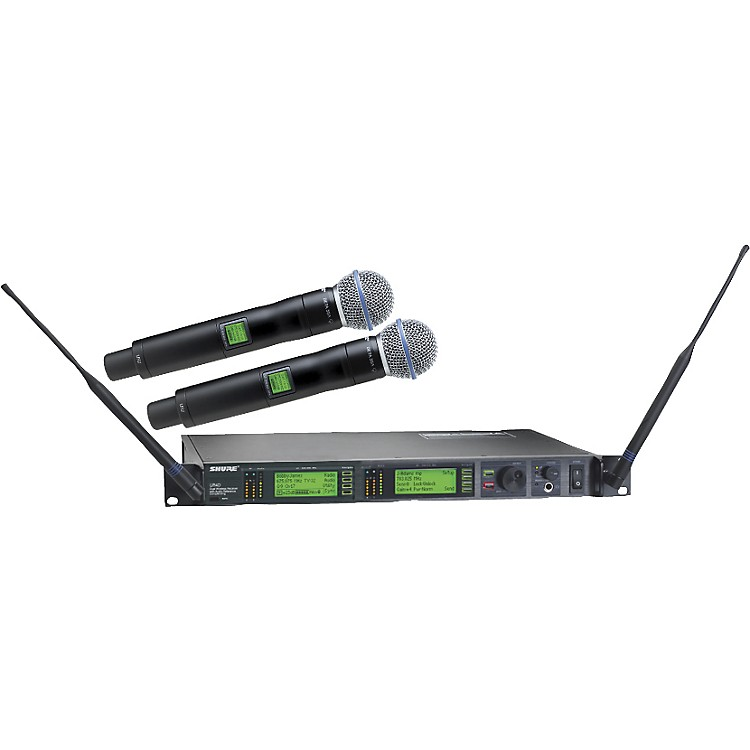 Shure UR24D/BETA58 Dual Handheld Wireless Microphone System