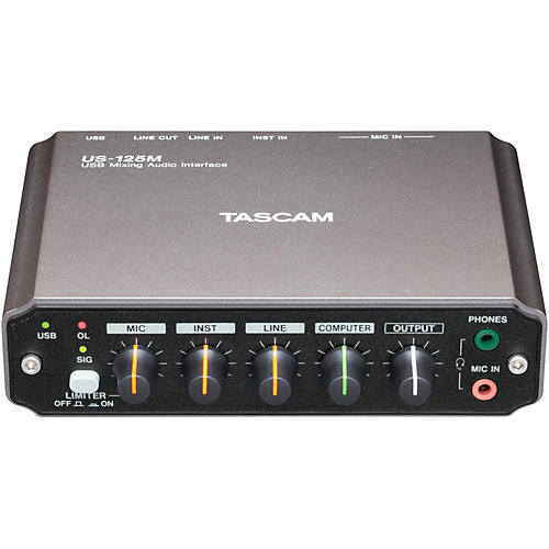 Tascam US-125M USB Mixing Audio Interface-thumbnail