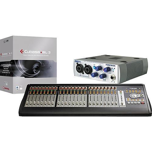 Tascam US-2400 FIREBOX Cubase SL LTO Computer Recording and Mixing Bundle