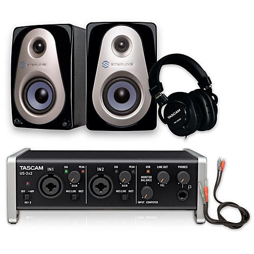 tascam us 2x2 th 200x headphone package musician 39 s friend. Black Bedroom Furniture Sets. Home Design Ideas