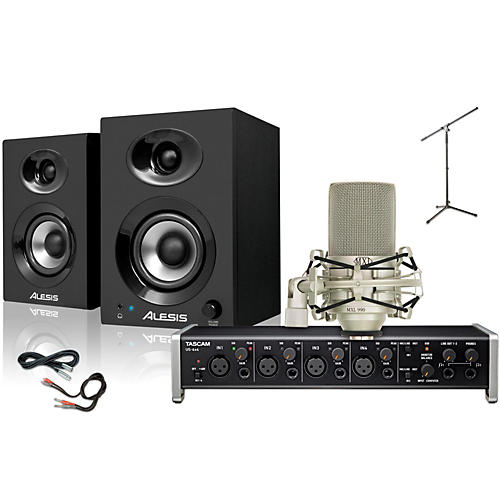 Tascam US-4x4 MXL 990 Elevate 3 Package-thumbnail