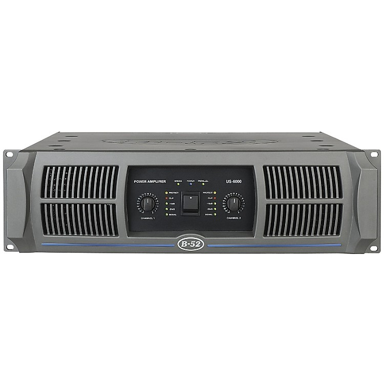 B-52 US-6000 2-Channel 1150W Power Amplifier