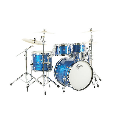 Gretsch Drums USA Brooklyn Series 4-Piece Shell Pack Royal Blue Oyster
