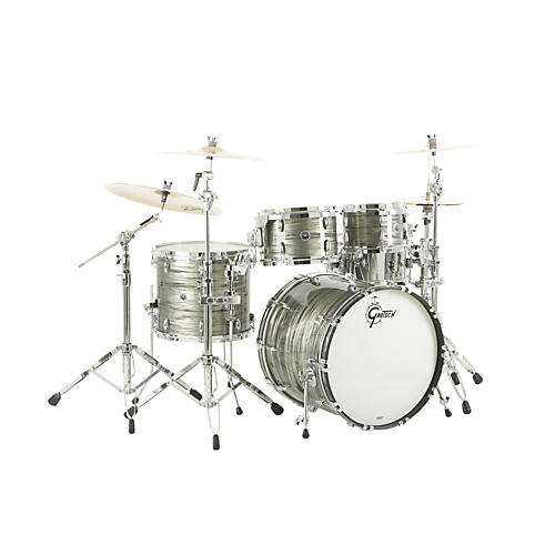 Gretsch Drums USA Brooklyn Series 4-Piece Shell Pack Smoke Gray Oyster