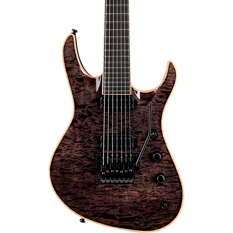 JacksonUSA Chris Broderick Soloist 7-String Electric GuitarTrans BlackEbony Fingerboard