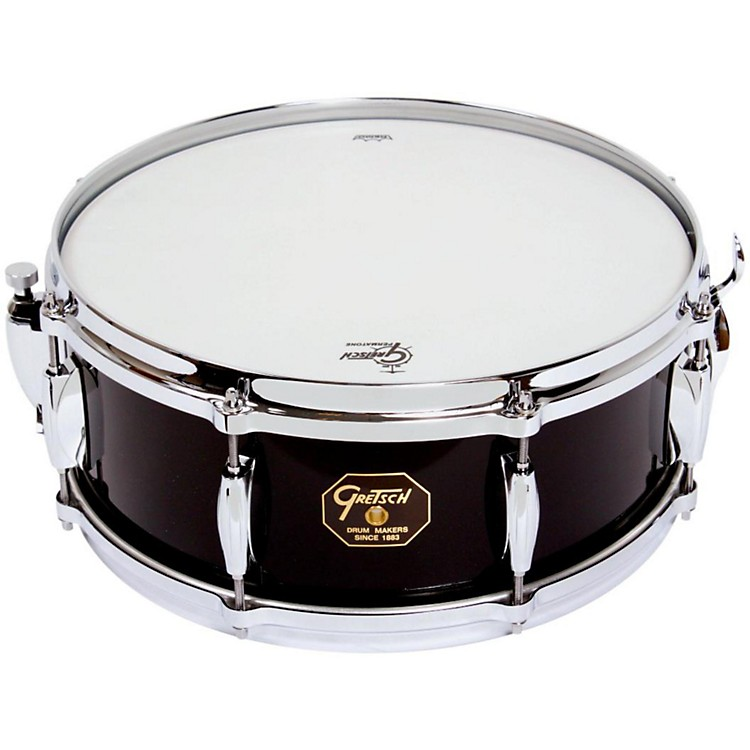 Gretsch Drums USA Custom Snare Drum Piano Black Gloss 5.5x14