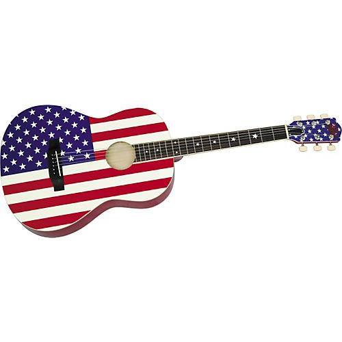 Rogue USA Flag Acoustic Guitar