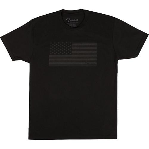 Fender USA Flag Blackout T-shirt-thumbnail