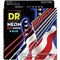 DR Strings USA Flag Sets: Hi-Def NEON Red, White & Blue Electric Guitar Lite Strings