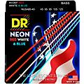 DR Strings USA Flag Sets: Hi-Def NEON Red, White & Blue Electric Medium 5 String Bass Strings