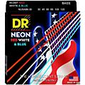 DR Strings USA Flag Sets: Hi-Def NEON Red, White & Blue Electric Medium 6 String Bass Strings