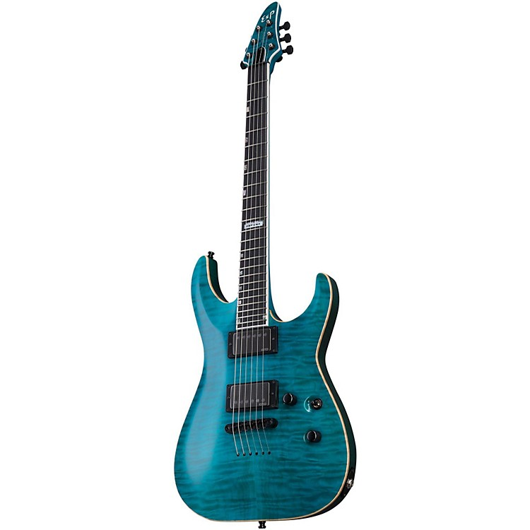 ESP USA Horizon Electric Guitar See Thru Aqua