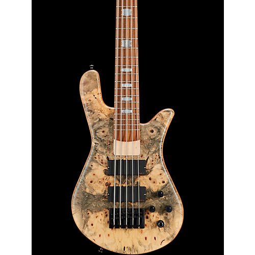 Spector USA NS-5H2-EX Buckeye Burl Top 5-String Bass Guitar Buckeye Burl Natural
