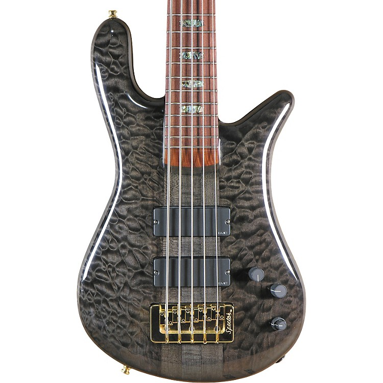 Spector USA NS-5XL Black Stain 5-String Bass Guitar Black Stain Clear Gloss