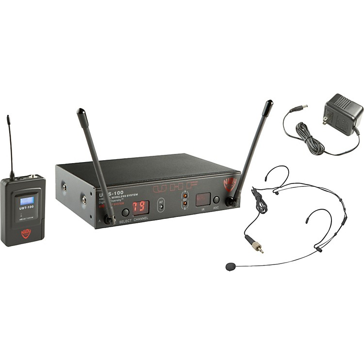 Nady UWS-100 HM-10 Headset Wireless System Black
