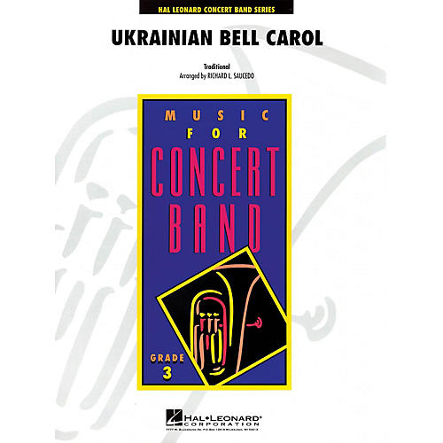 Hal Leonard Ukrainian Bell Carol - Young Concert Band Series Level 3 arranged by Richard L. Saucedo-thumbnail