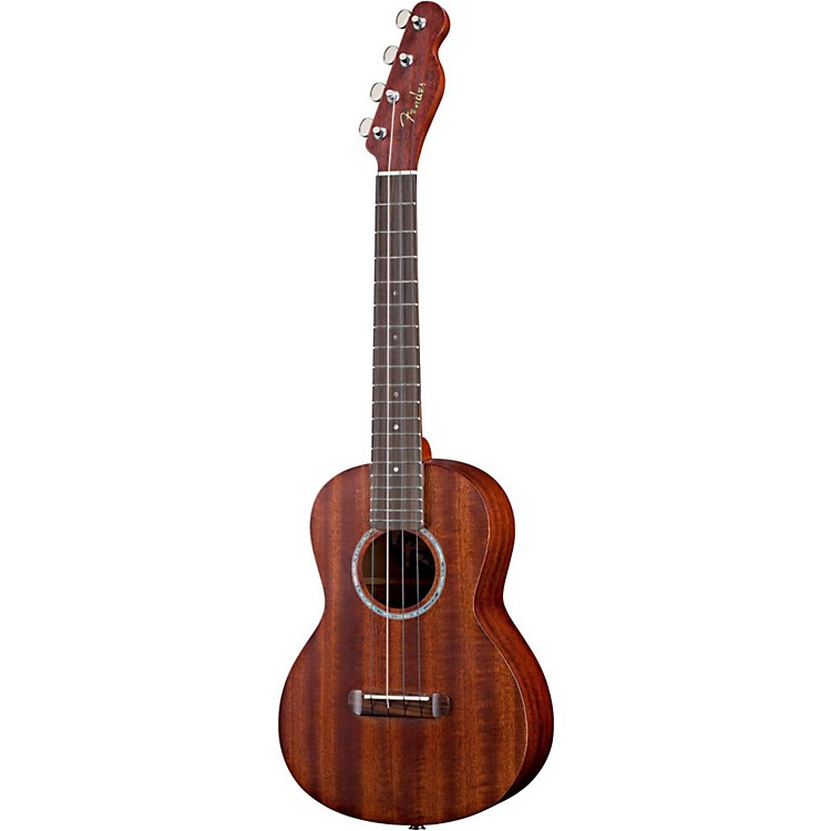 Fender Ukulele Pa ina All-Solid Mahogany Acoustic-Electric Tenor Ukulele Natural