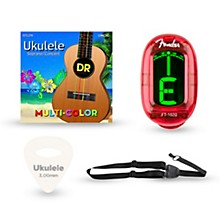 Musician's Friend Ukulele Soprano Accessory Kit: Strings, Picks, Strap and Tuner