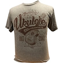 Martin Ukulele for Centennial Celebration - Gray T-Shirt