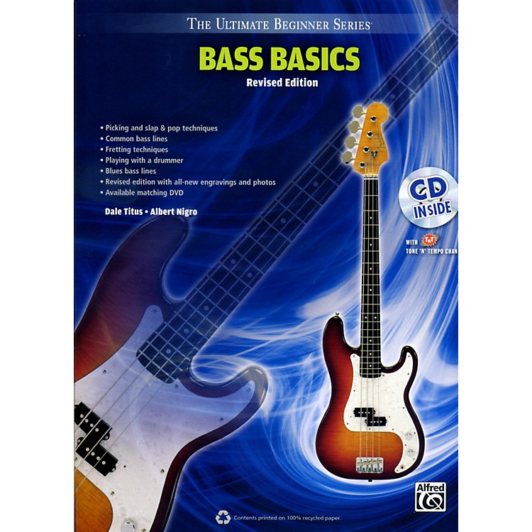 Alfred Ultimate Beginner Bass Basics (Revised Edition) Book & CD