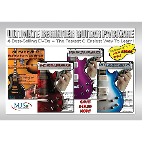 MJS Music Publications Ultimate Beginner Guitar 4 DVD Package