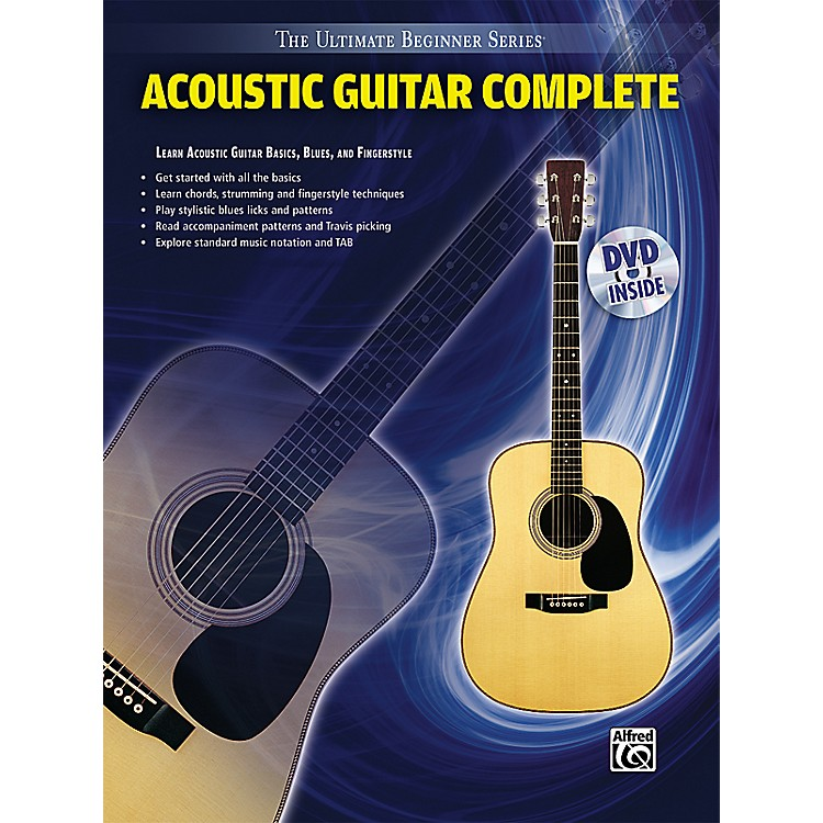 Alfred Ultimate Beginner Series Acoustic Guitar Complete Book & DVD