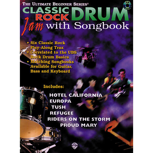 Warner Bros Ultimate Beginner Series Drum Songbook - Classic Rock (CD)-thumbnail