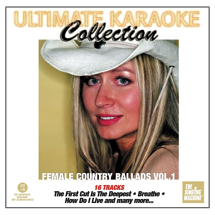 The Singing MachineUltimate Karaoke Collection Female Country Ballads Volume 1 Karaoke CD+G