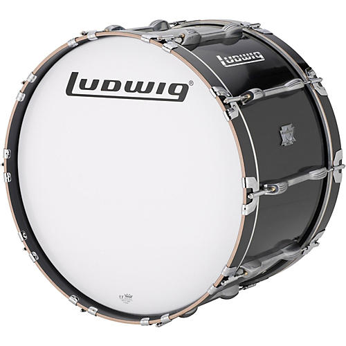 Ludwig Ultimate Marching Bass Drum - Black-thumbnail